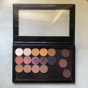 Custom Z Palette w single eyeshadows (ABH, MG, CP)